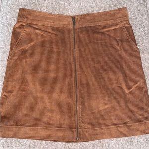 GAP — rust zip up skirt